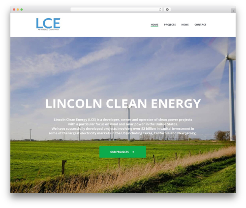 GoodEnergy WordPress website template - lincoln-clean-energy.com