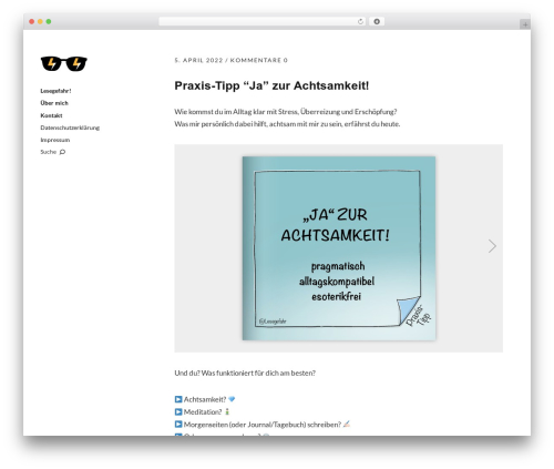 Moka WP theme - lesegefahr.de
