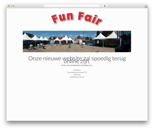 Betheme company WordPress theme - funfair.be