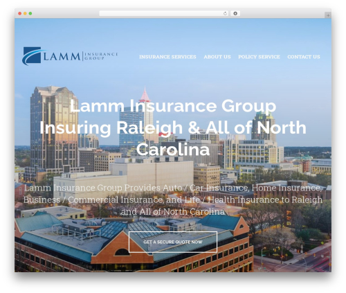 BrightFire Stellar business WordPress theme - lamminsurancegroup.com