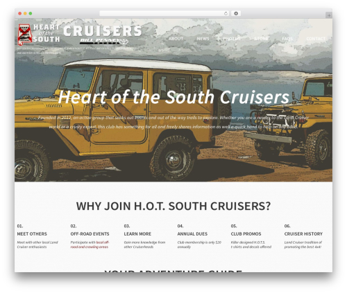 cherry WordPress theme - hotsouthcruisers.org