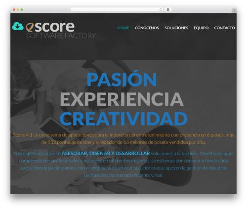 cherry WordPress theme - scoreprojects.net