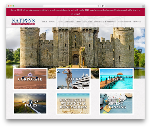jupiter WordPress travel theme - nationstravel.net