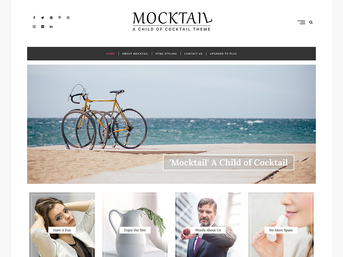 Mocktail WordPress blog template