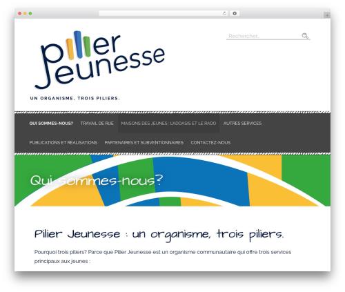 Primer template WordPress free - pilierjeunesse.com