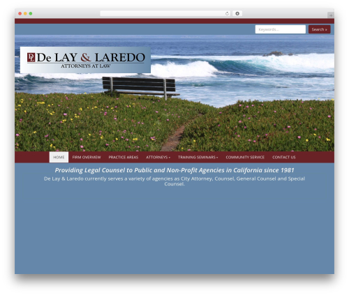 WordPress template Business Green - laredolaw.net