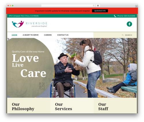 WordPress website template CountryVilla - riversideconvalescent.com