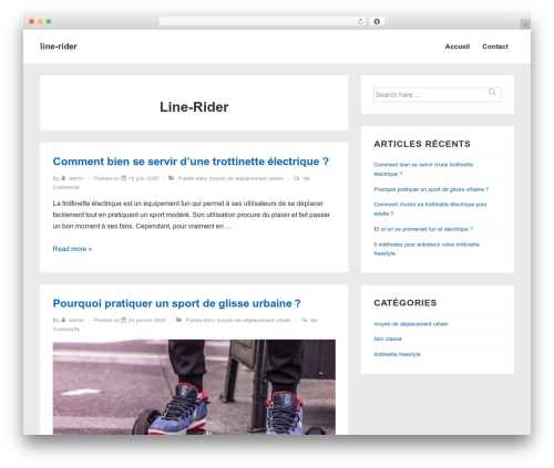 Responsive WP template - line-rider.fr