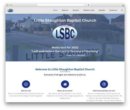 BizPoint theme WordPress - littlestaughtonbaptist.org.uk
