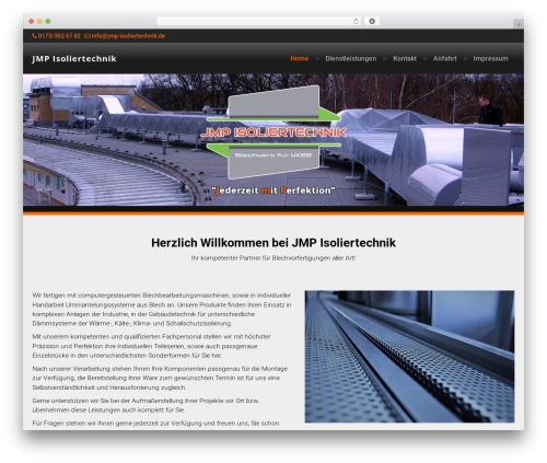 Di Responsive WordPress website template - jmp-isoliertechnik.de
