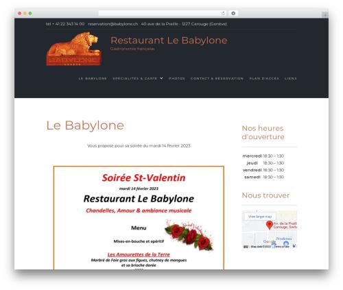 Food Express template WordPress free - babylone.ch
