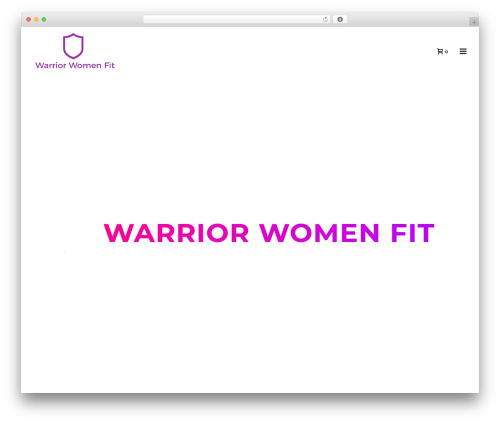 Jupiter WordPress template - warriorwomenfit.com