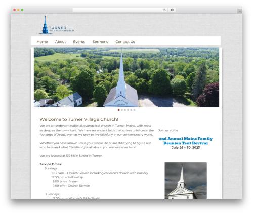 WordPress website template Sharefaith Church Website Template - turnervillagechurch.org