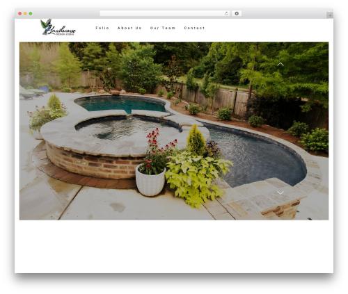 Architecturer landscaping WordPress theme - landscapedesignstudio.net