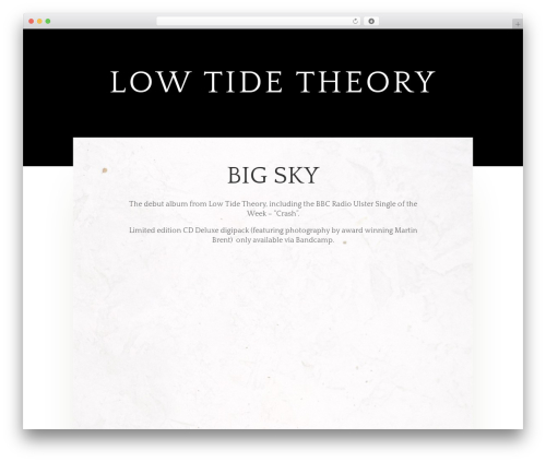 Best WordPress theme Divi - lowtidetheory.com