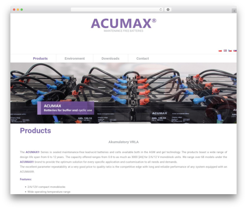 BLANK Theme top WordPress theme - acumax.eu