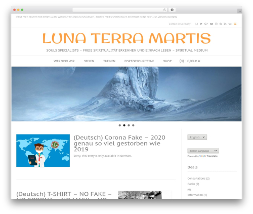Conica free WordPress theme - lunaterramartis.com