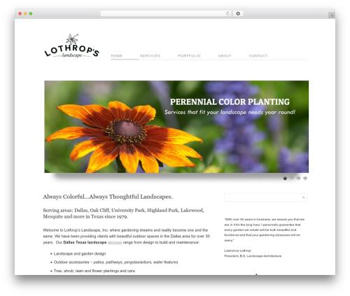 Cudazi Mono WordPress theme - lothrops.com