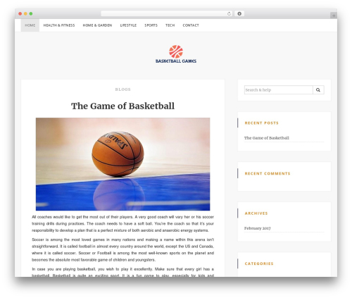 Sanremo premium WordPress theme - basketball-games.net
