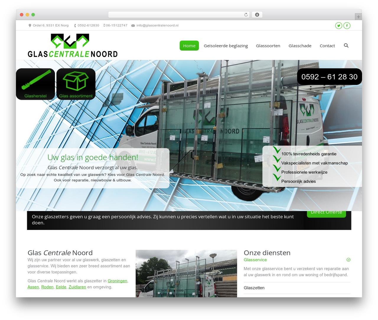 The7 WordPress theme - glascentralenoord.nl