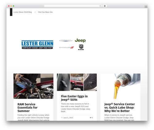 Best WordPress template Garfunkel - lesterglenncdjrblog.com