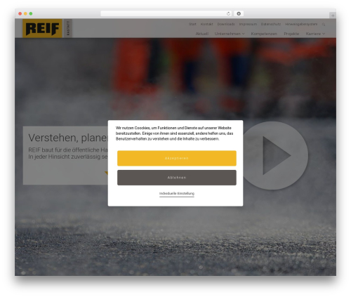Best WordPress template Kodeo Studio - reif-bau.de