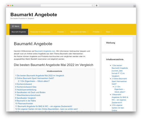GeneratePress free WordPress theme - baumarkt-angebote.com
