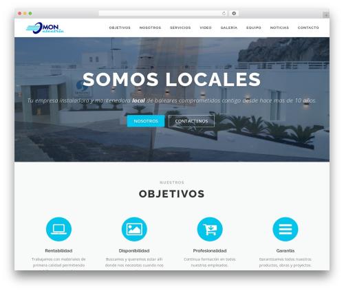 OnePress theme WordPress free - monelectric.es