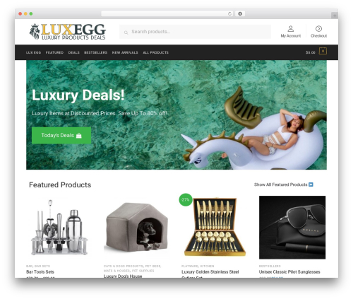 Shoptimizer WordPress website template - luxegg.com