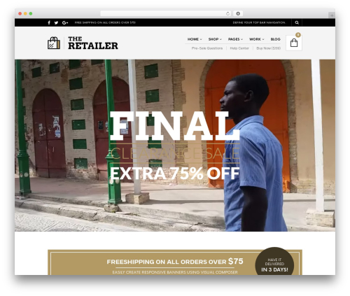 The Retailer WordPress theme - gajjhaiti.org