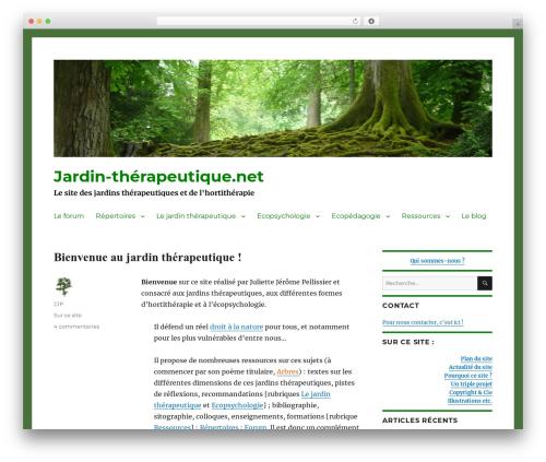 Theme WordPress Twenty Sixteen - jardin-therapeutique.net