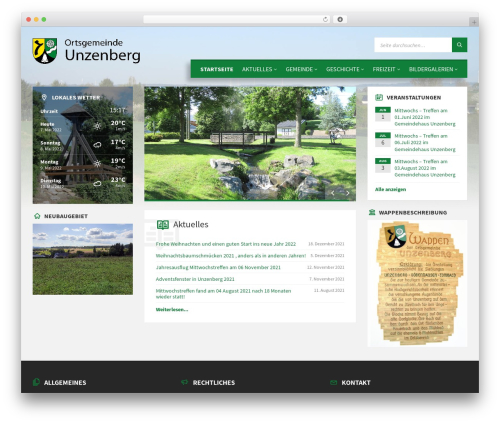 TownPress WordPress theme - unzenberg.de