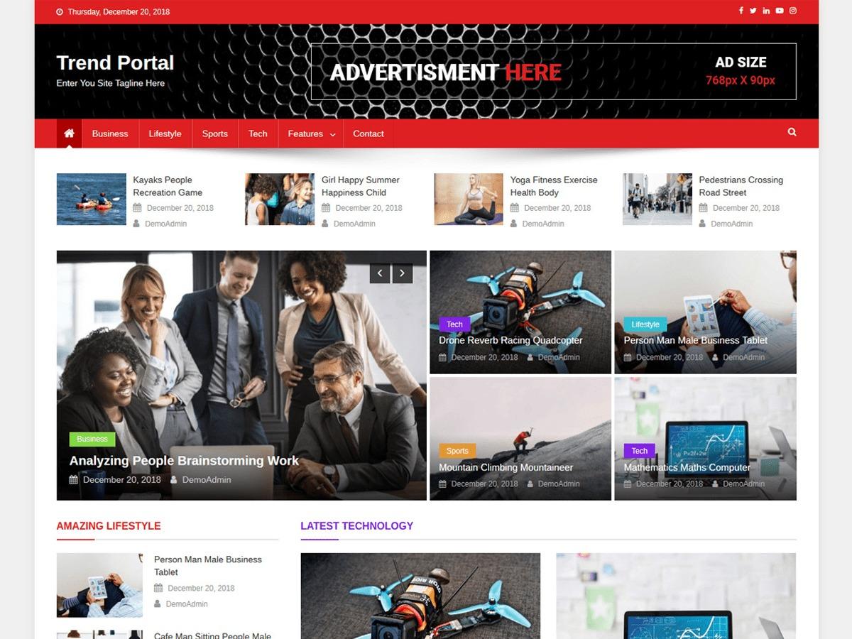 Trend Portal newspaper WordPress theme