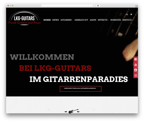 Bikersclub WordPress ecommerce theme - lkg-guitars.de