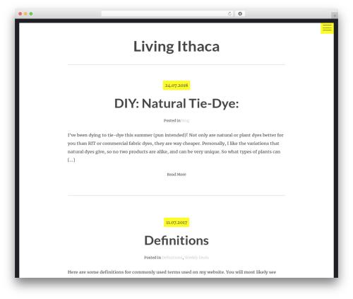 hexo WordPress theme - livingithaca.com