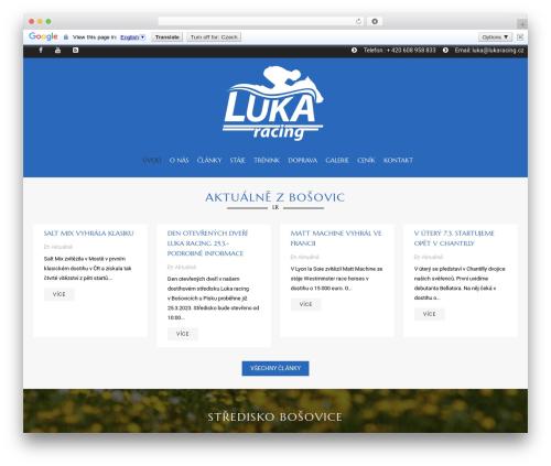 HorseClub WordPress website template - lukaracing.cz