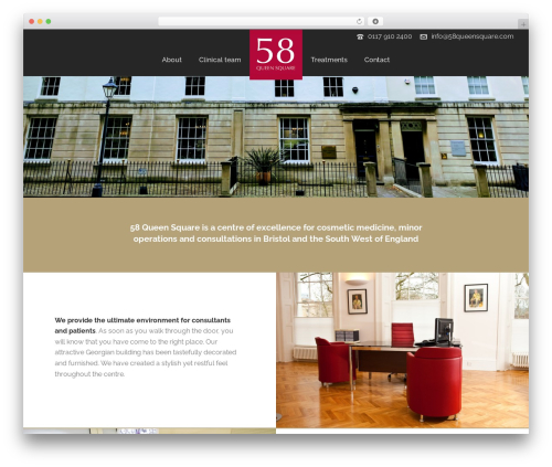 Jupiter best WordPress theme - 58queensquare.com