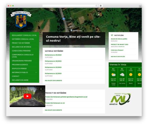 TownPress theme WordPress - primariavorta.ro