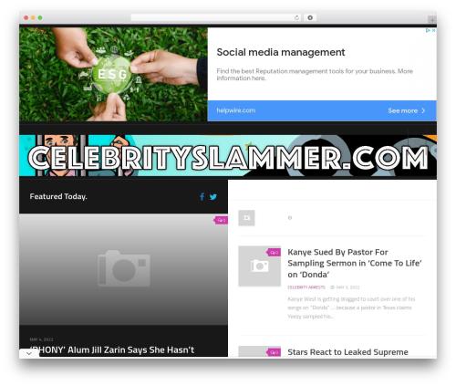 WordPress template Split - celebrityslammer.com