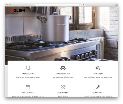 DPR Bruno WordPress theme design - glemgas-egypt.com