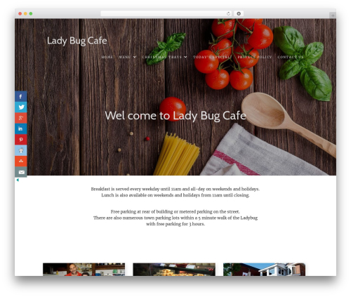 Food Express theme WordPress - ladybugcafe.ca