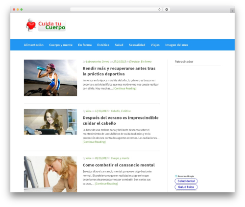 Gatsby WordPress theme - cuidatucuerpo.es