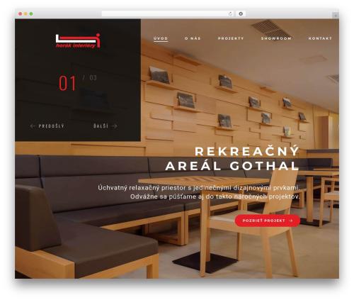 goarch best hotel WordPress theme - horakinteriery.sk