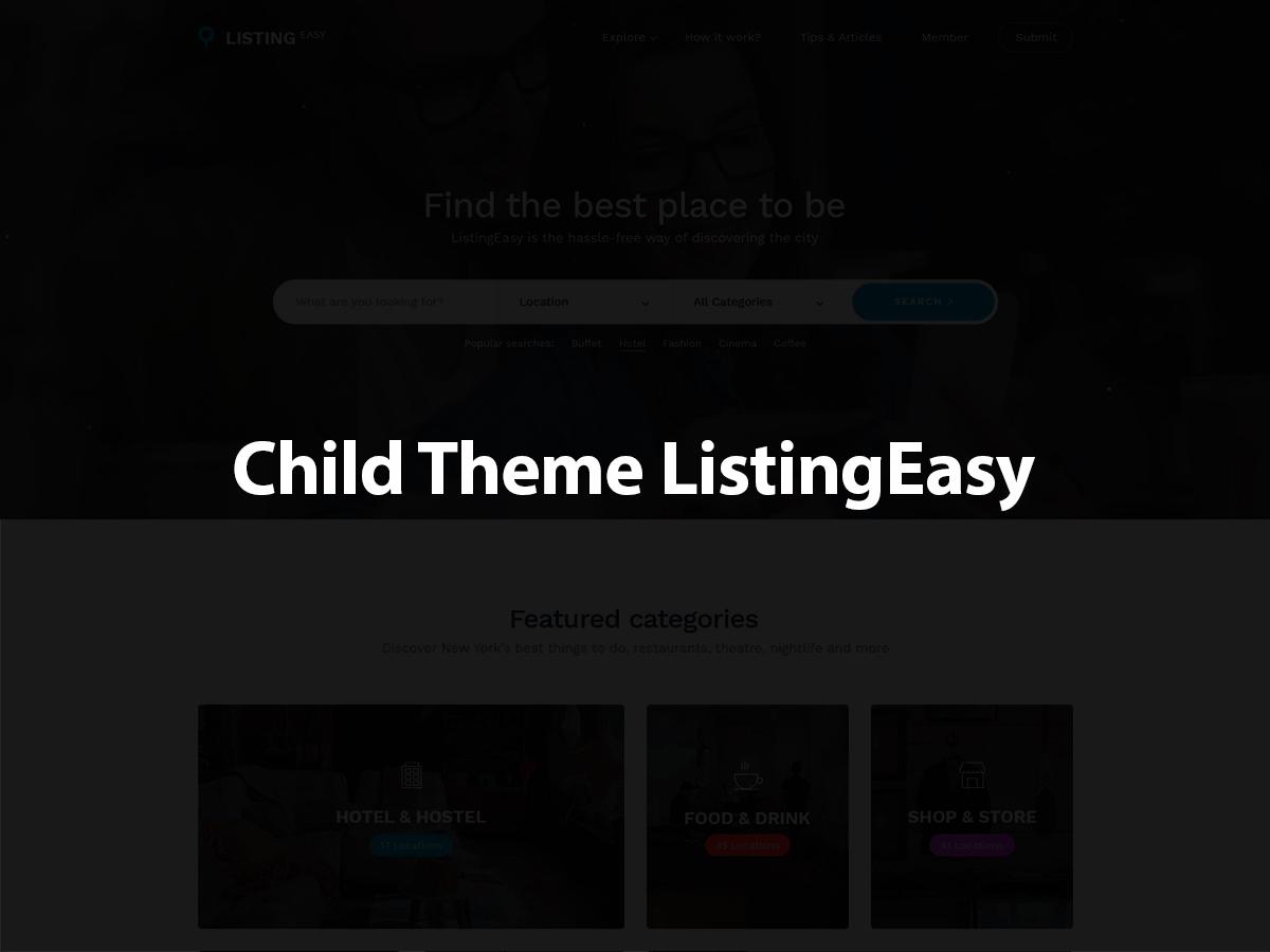 Listingeasy - Child WordPress theme