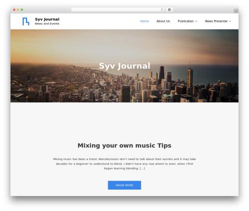 Meilleur Business WordPress theme - syvjournal.com