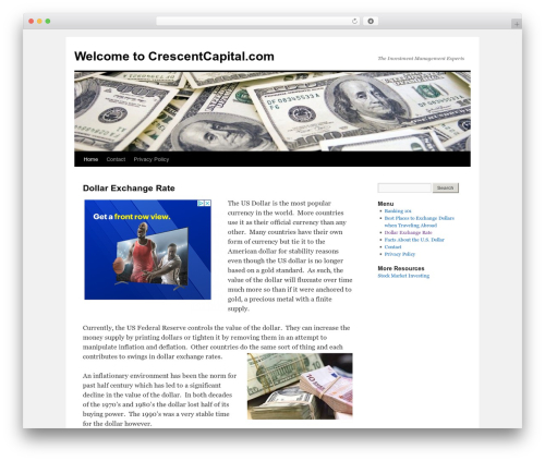 Twenty Ten free WordPress theme - crescentcapital.com