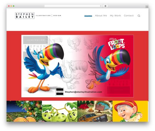 WordPress template SohoPRO - sbaileyillustration.com