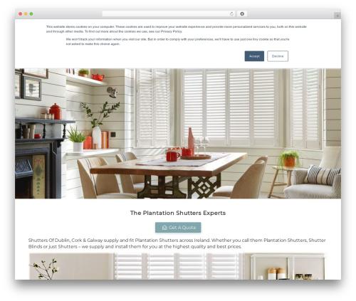 WordPress theme Customizr Pro - shuttersofdublin.com