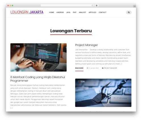 Businessx WordPress theme - lowonganitjakarta.com