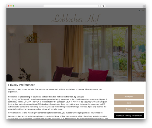 Movedo WordPress theme - loblocherhof.de
